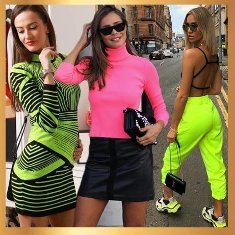 Стилни дамски дрехи в цвят неон.