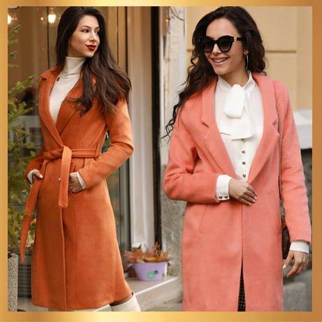 Стилно дамско палто.