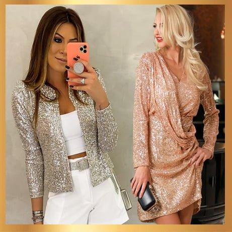 Дамски дрехи с метални отблясъци