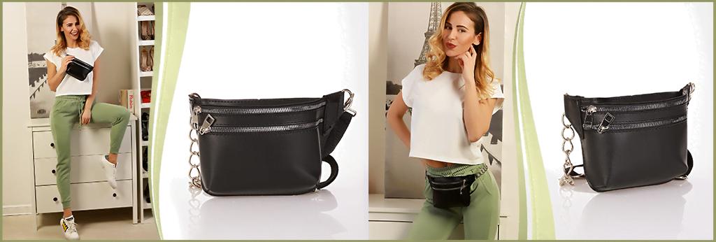 Модерна дамска чанта за кръста