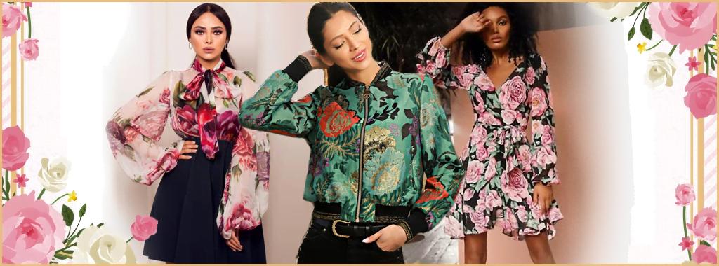 Стилна дамски дрехи с флорален мотив